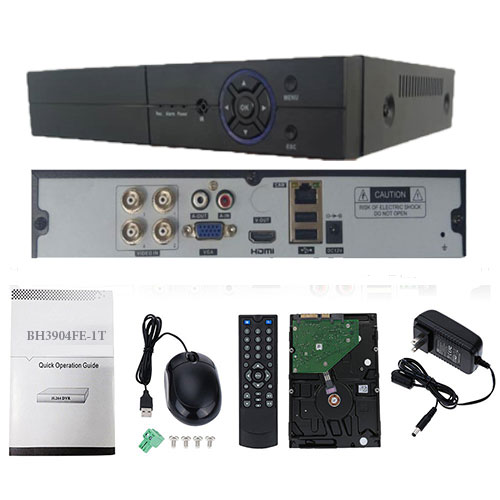DVR 4 CH H.265 AND ELSE - لینک های نظارت تصویری و نکات مهم انتقال تصویر